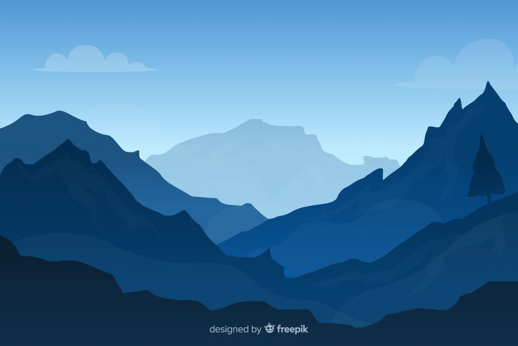 Mountain background vector from freepik